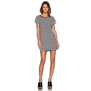 Minkpink | Striped Rolled Sleeve T-Shirt Dress